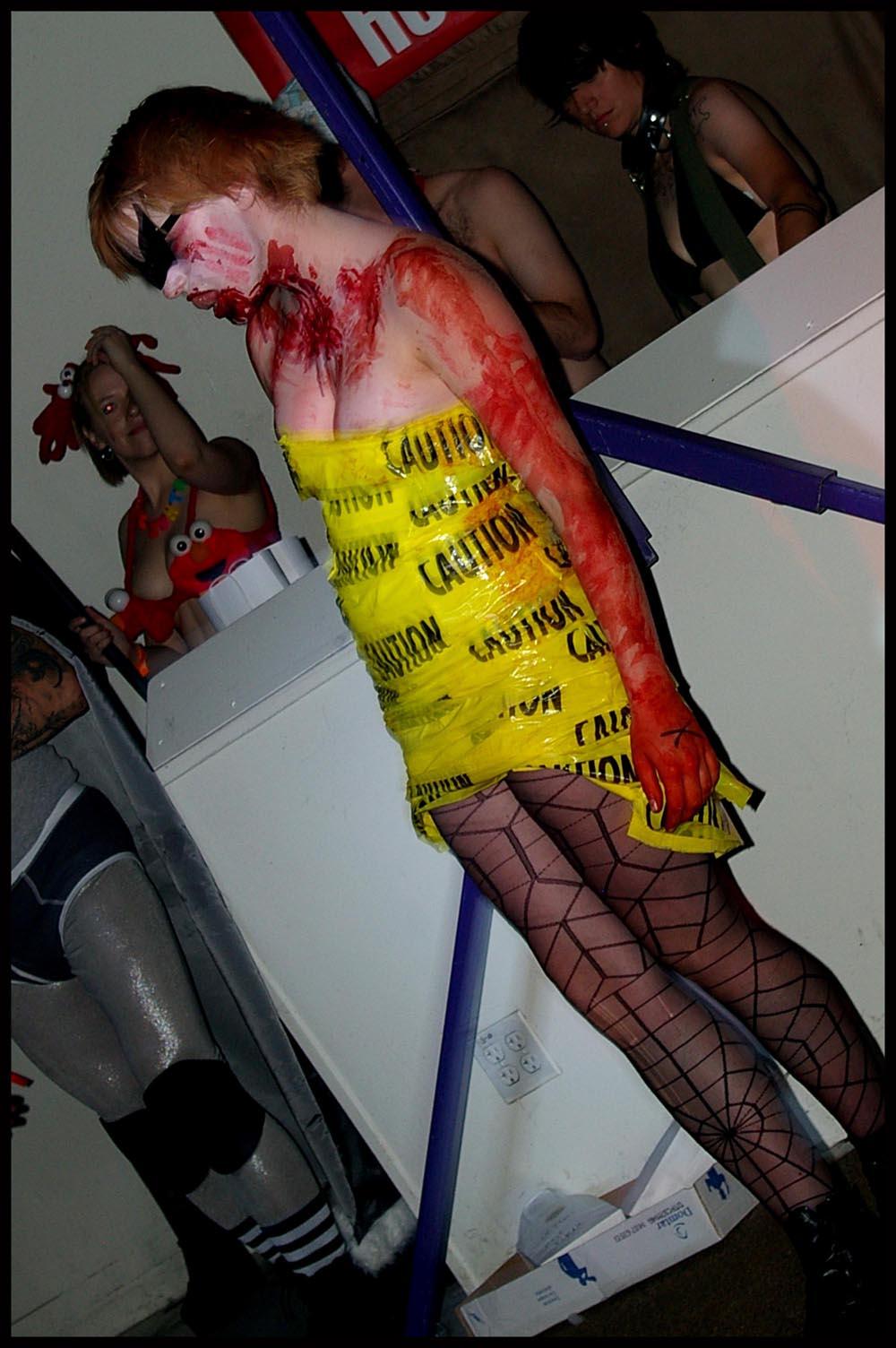 small costume caution tape