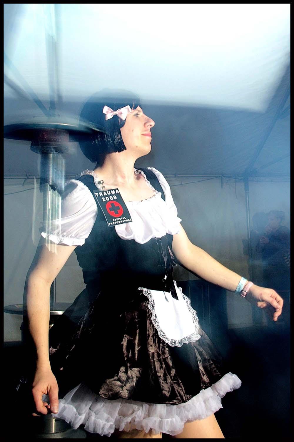 small dancing maid